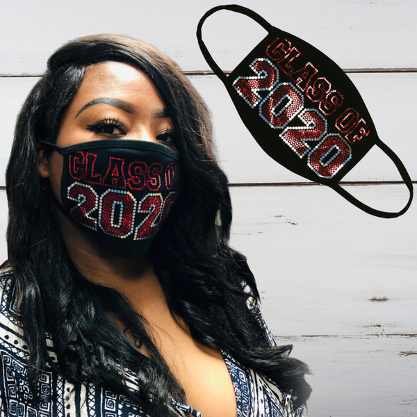 Class of 2020 Bling Face Mask - Superior Boutique
