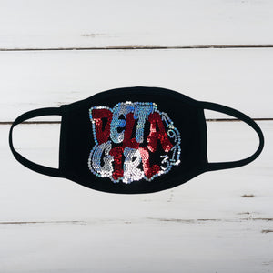 Delta Girl Bling Face Mask