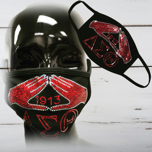 Sisterhood (Delta) Bling Face Mask - Superior Boutique