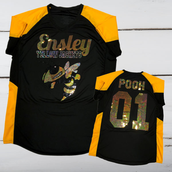 Ensley Yellow Jackets Bling Ladies Cutter Jersey - Superior Boutique