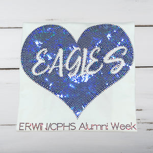 Erwin/CPHS Eagles Love Bling Shirt - Superior Boutique