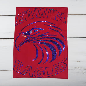 Erwin Eagles Mascot Bling Shirt - Superior Boutique