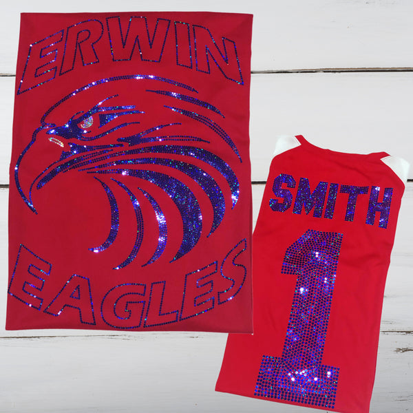 Erwin High Alumni Bling Ladies Cutter Jersey - Superior Boutique