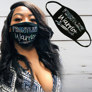 Frontline Warrior Bling Face Mask - Superior Boutique