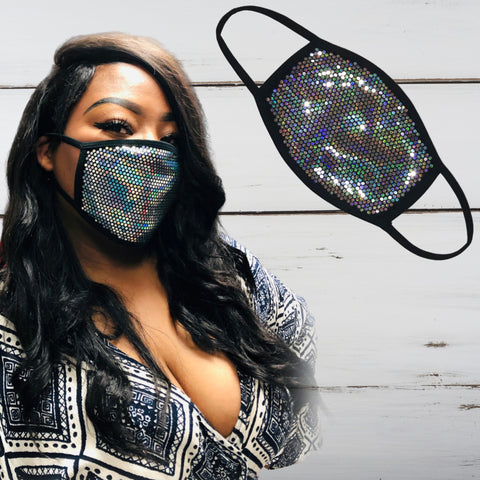 Custom Bling Face Mask - Superior Boutique