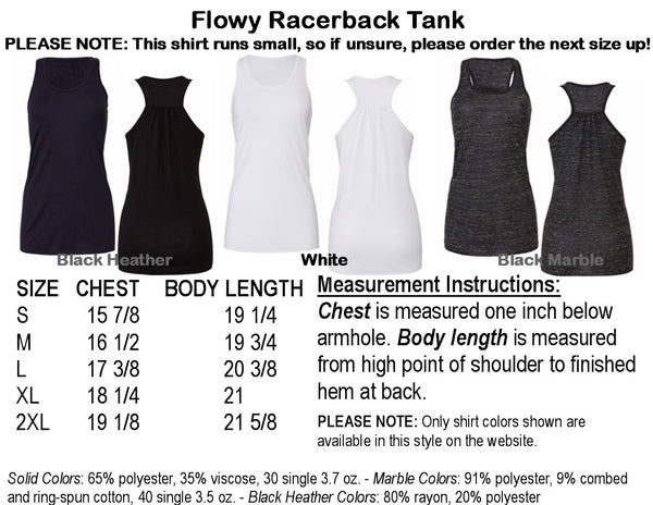 Natural Beauty Bling Flowy Racerback Tank