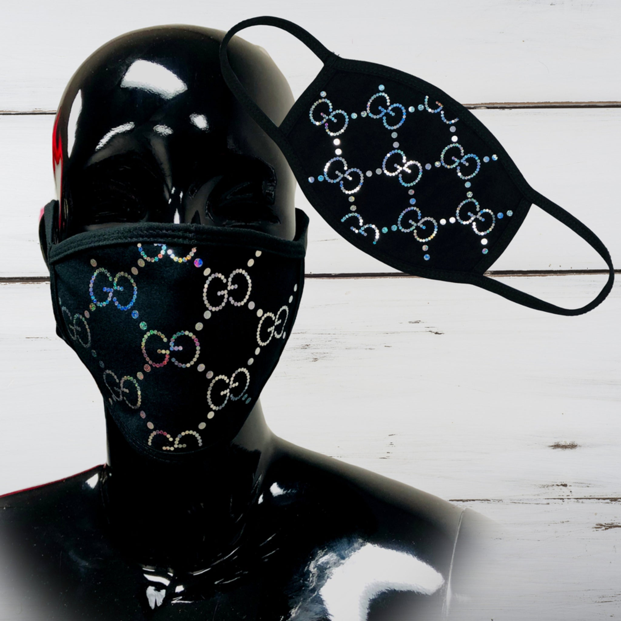 Designer Inspired Bling Face Mask