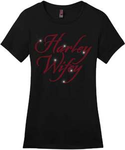 Harley Wifey Bling Short Sleeve Style Shirts