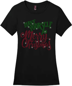 Have Yourself A Merry Christmas Bling Short Sleeve Style Shirts