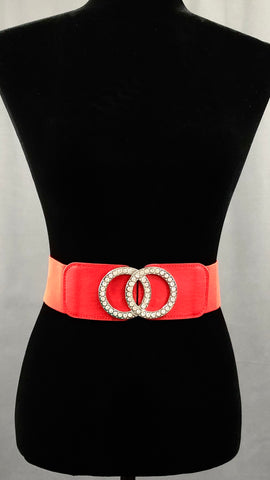 Running In Circles Elastic Belt - Red