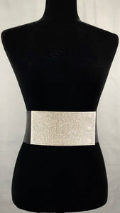 Servin' That Bling Elastic Belt - Black/Clear