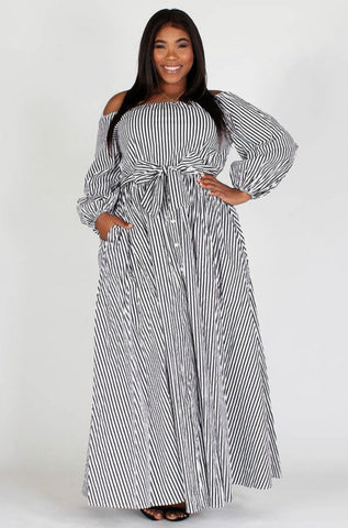 Stripe Me Down Shirt Dress - Superior Boutique