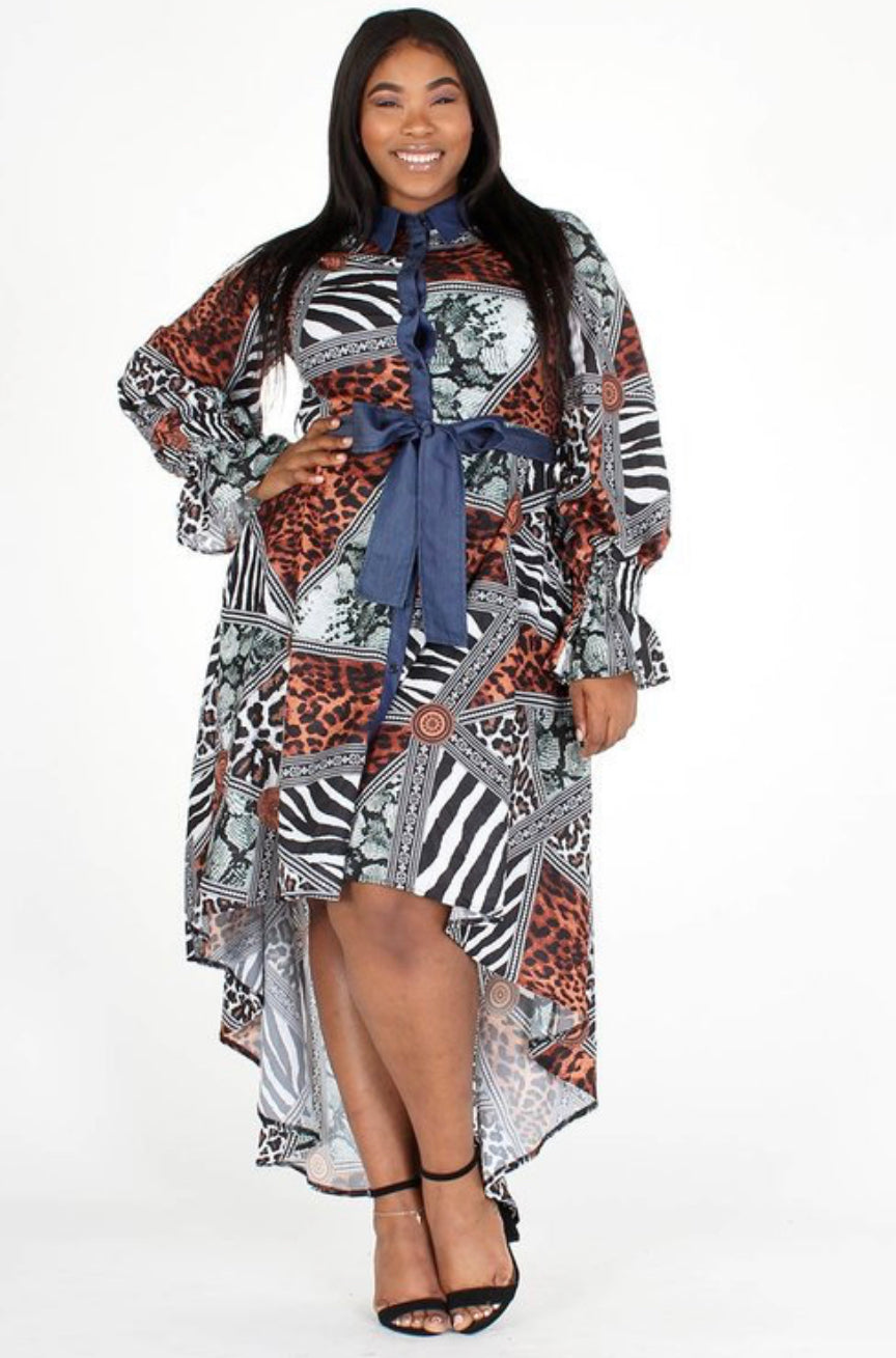 Wild About Me Hi-Lo Dress - Superior Boutique
