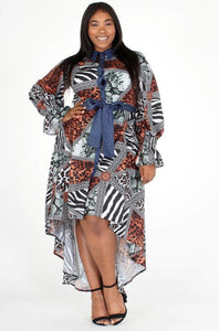 Wild About Me Hi-Lo Dress