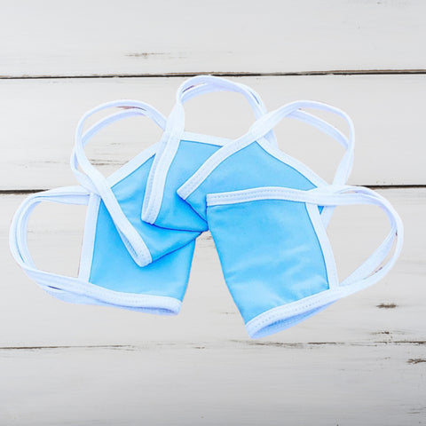 Kids Blank Face Mask (Baby Blue) *PREORDER ITEM*
