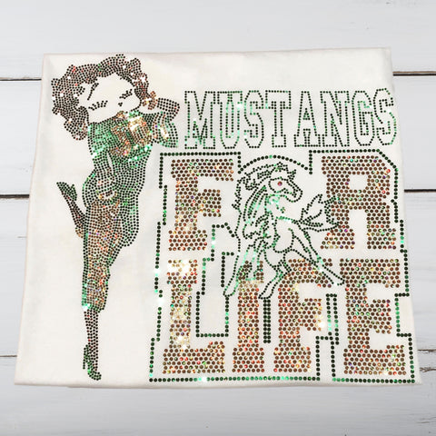 MUSTANGS For Life Bling Shirt - Superior Boutique