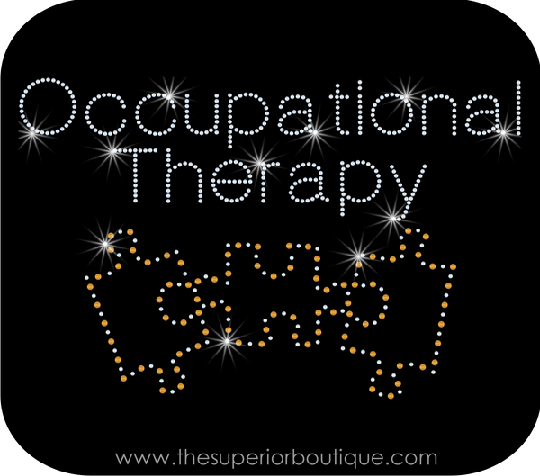 Occupational Therapy Bling Short Sleeve Style Shirts