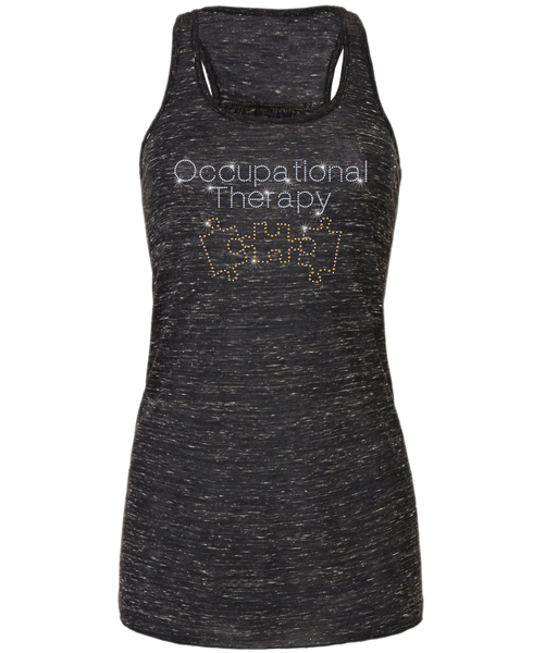 Occupational Therapy Bling Flowy Racerback Tank
