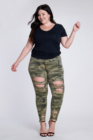 War Ready Camo Distressed Pants