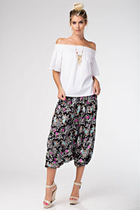 Floral Print Harem Pants - Superior Boutique
