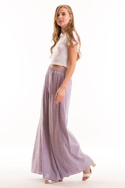 Final Sale High Waisted Full Length Wide Leg Pants