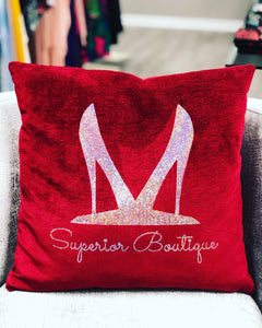 Custom Velvet Bling Pillow Cover 18x18 - Superior Boutique