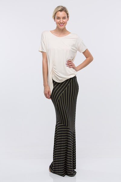 Striped Maxi Skirt - Superior Boutique