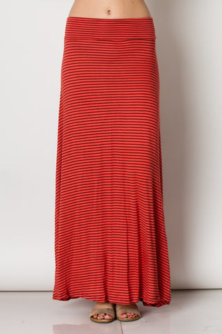 Striped A-Line Maxi Skirt - Superior Boutique