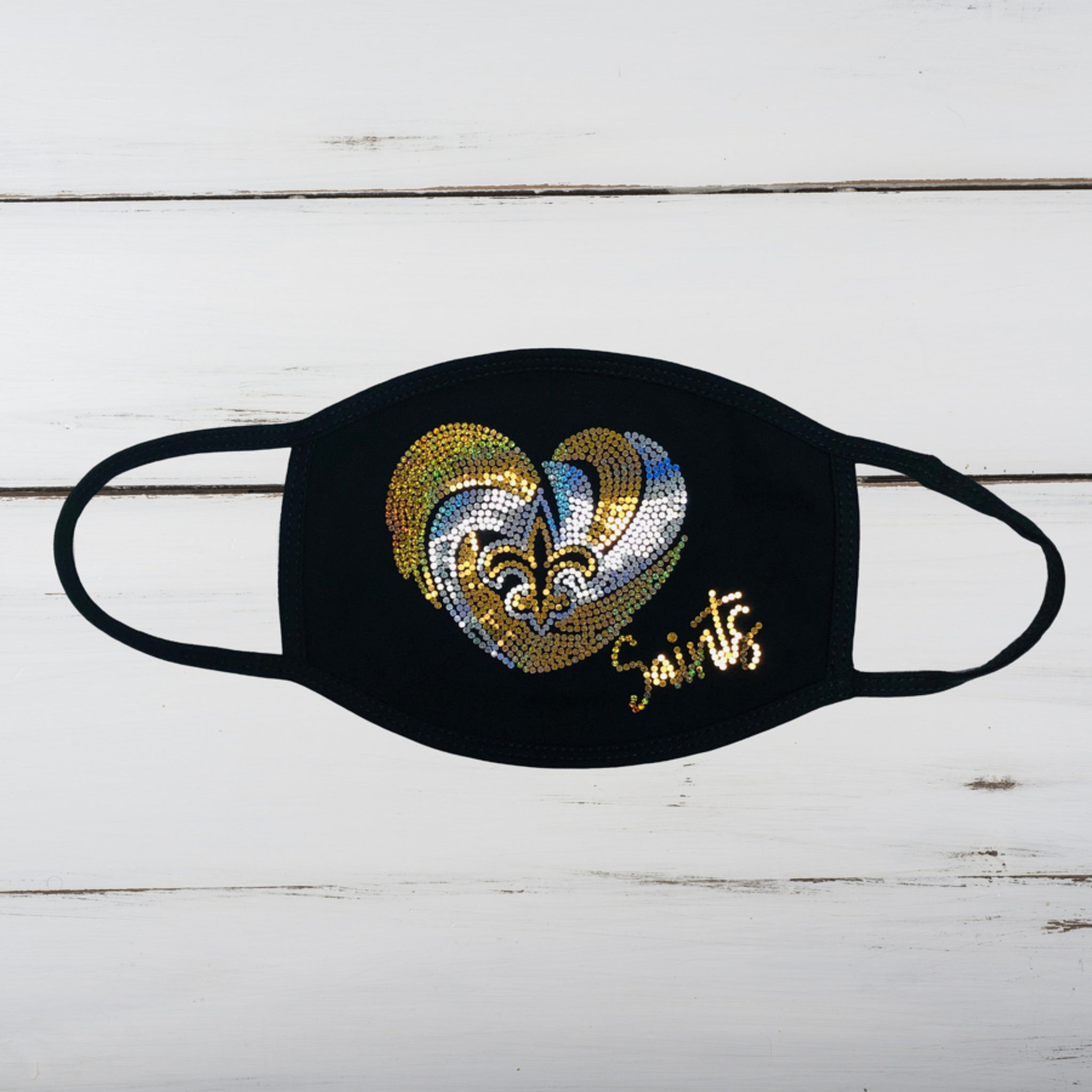 Saints Bling Face Mask