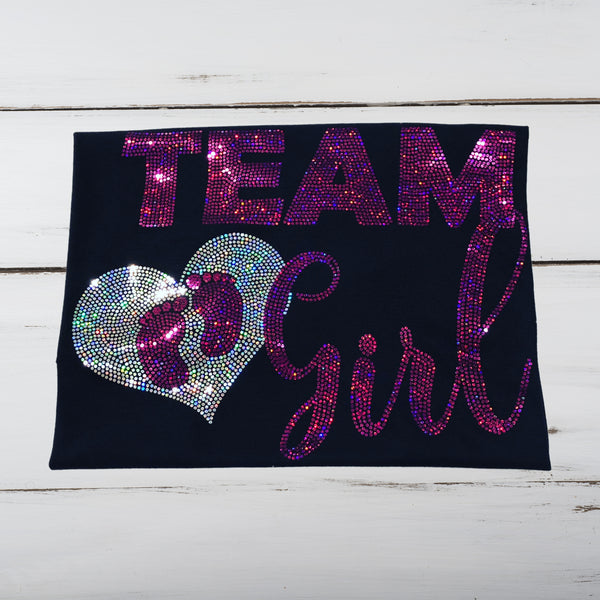 """TEAM GIRL"" Bling Shirt - Superior Boutique"