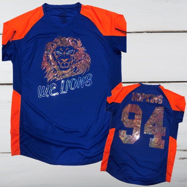 West End Lions Bling Ladies Cutter Jersey - Superior Boutique