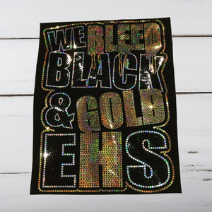 We Bleed Black & Gold Bling Shirt - Superior Boutique