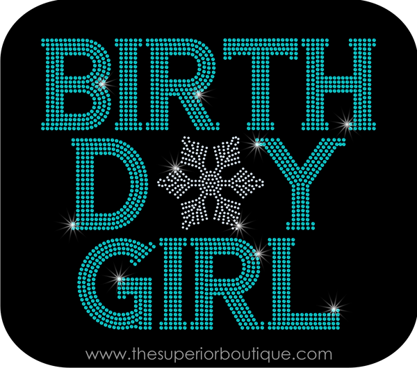 Winter Birthday Girl Bling Short Sleeve Style Shirts