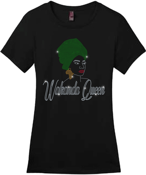 Wakanda Queen Bling Short Sleeve Style Shirts