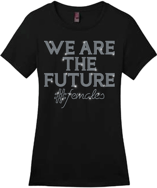 WE ARE THE FUTURE Bling Short Sleeve Style Shirts