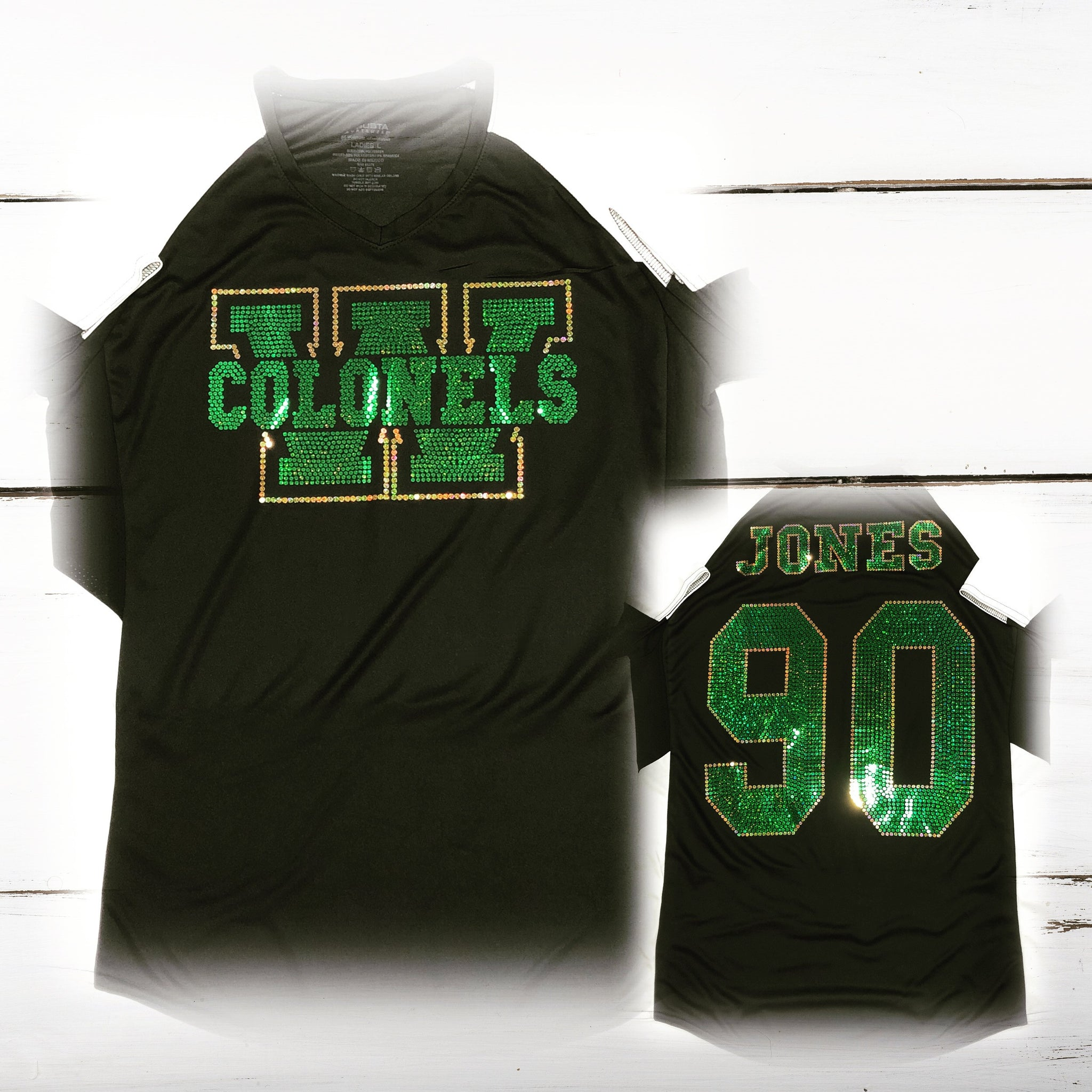 Woodlawn High Alumni Bling Ladies Cutter Jersey - Superior Boutique