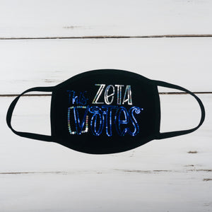 This ZETA Votes Bling Face Mask
