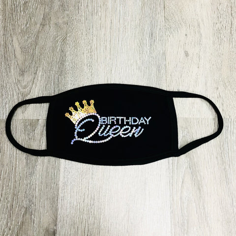 Birthday Queen Bling Face Mask