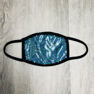 Extreme Bling Face Mask - Teal