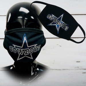 Cowboys Matte Finish Face Mask - Superior Boutique