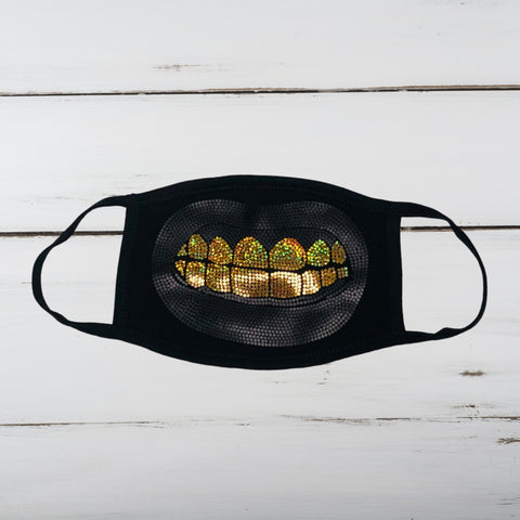 Gangsta Grillz Bling/Matte Finish Face Mask