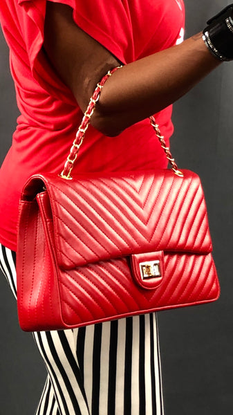 Follow The Lines Bag - Red