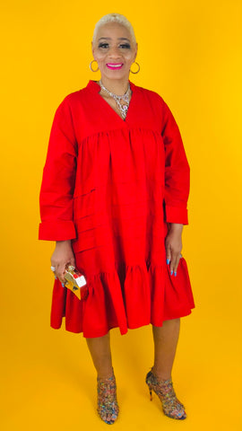 Sistah Tunic Dress - RED