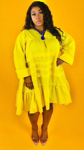 Sistah Tunic Dress - YELLOW