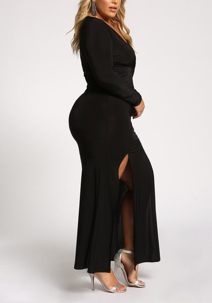 Curvy Glamorous Maxi Dress - Superior Boutique