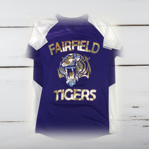 Fairfield Tigers Bling Ladies Cutter Jersey