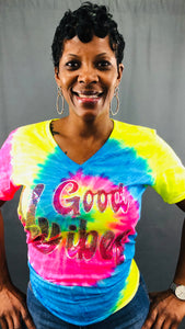 Good Vibes Tie-Dye Bling Shirt