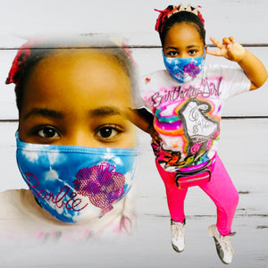 Girl Barbie Bling Tie-Dye Face Mask *PREORDER ITEM*