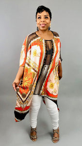 Iconic Scarf Print Top