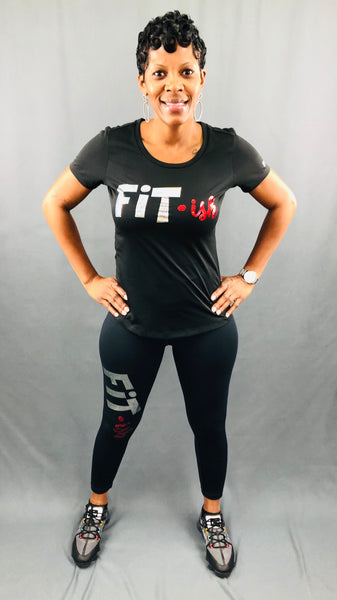 Fit · ish Bling Leggings (Red & Silver)